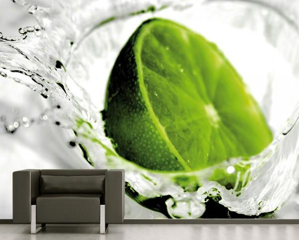 SALE Fototapete - Limette - 225 cm x 150 cm - farbig