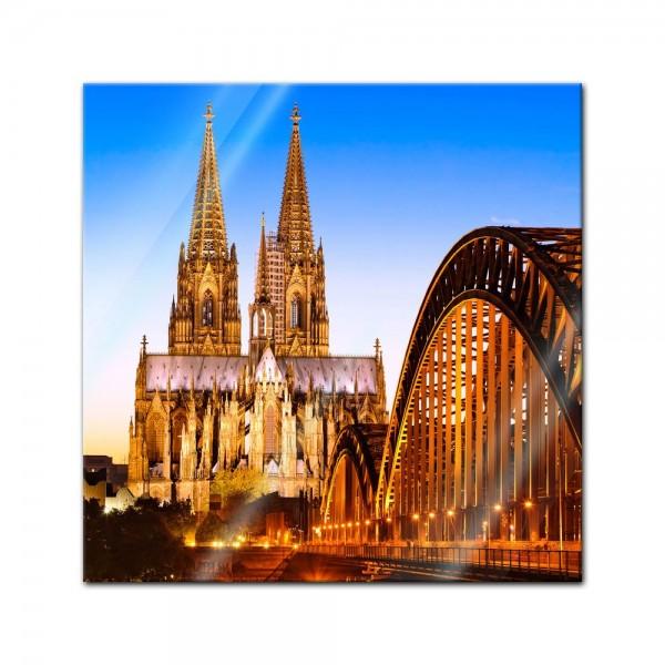 Glasbild - Kölner Dom - Deutschland
