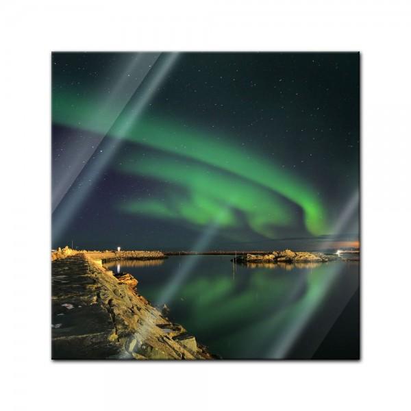 Glasbild - Nordlichter III in Yukon - Kanada