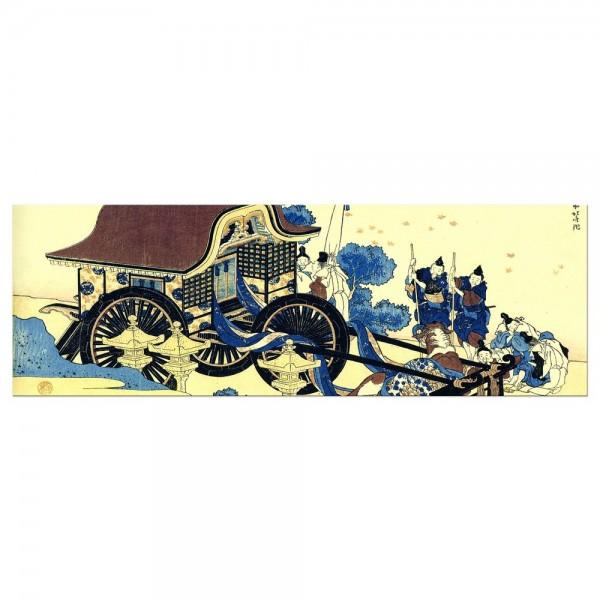 Leinwandbild - Katsushika Hokusai - Der Ochsenkarren