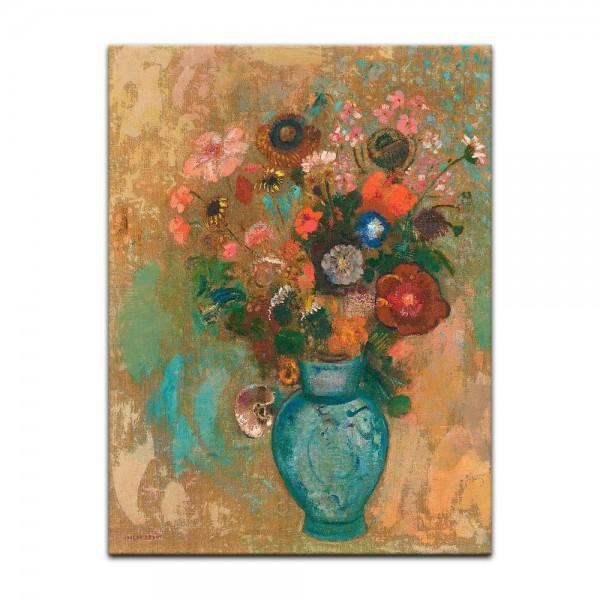 Leinwandbild - Odilon Redon - Blumen in einer blauen Vase