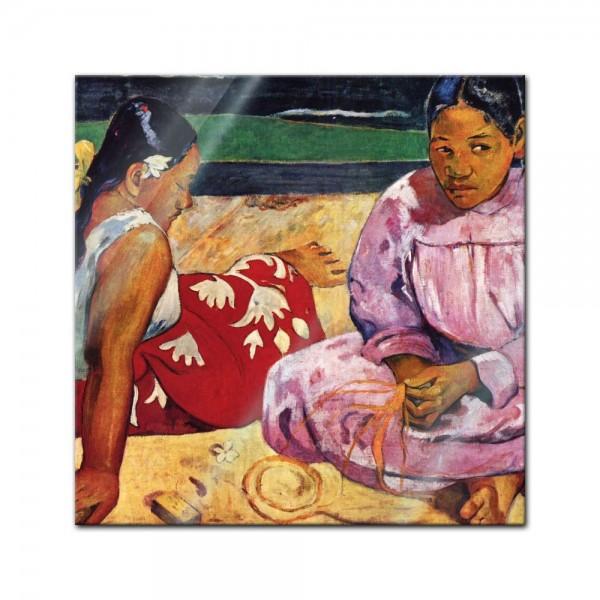 Glasbild Paul Gauguin - Alte Meister - Frauen am Strand