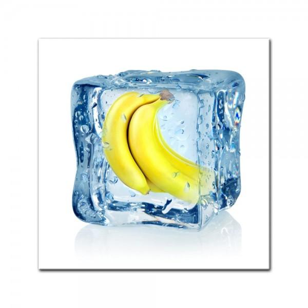 Leinwandbild - Eiswürfel Banane