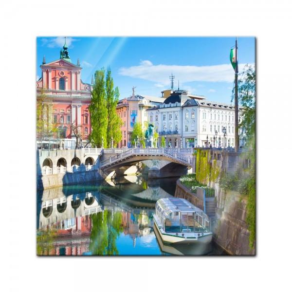 Glasbild - Ljubliana - Slowenien