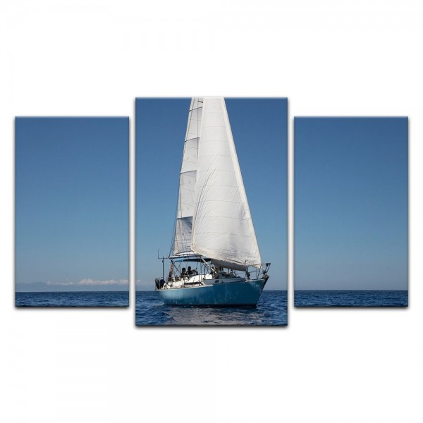 Leinwandbild - Yacht auf See IV