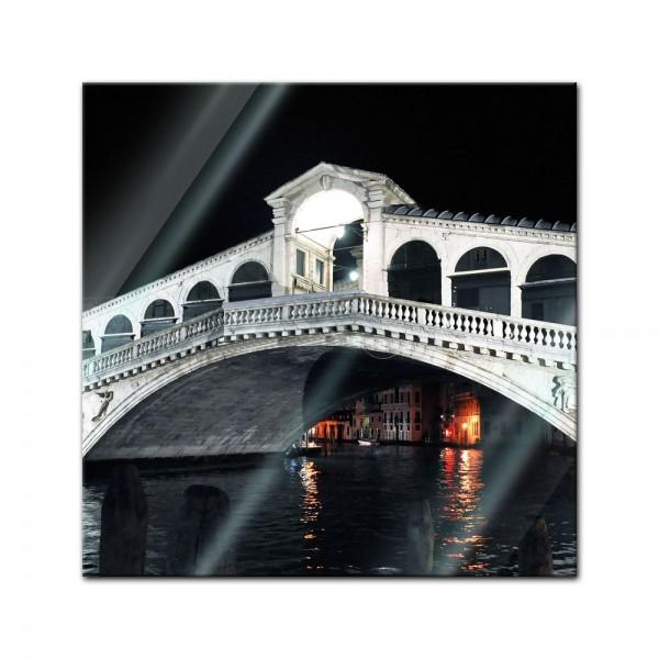 Glasbild - Rialto Brücke - Venedig Italien