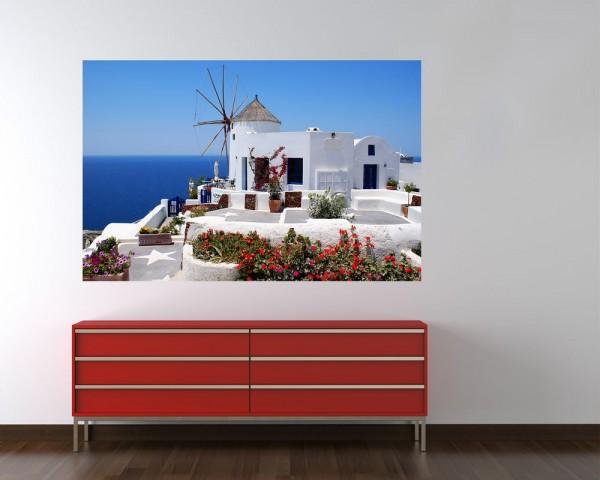 Fototapete - griechische Mühle