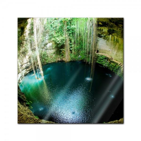 Glasbild - Ik-Kil Cenote Mexiko