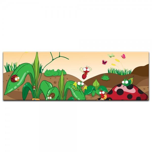 Leinwandbild - Kinderbild - Krabbeltiere II Cartoon