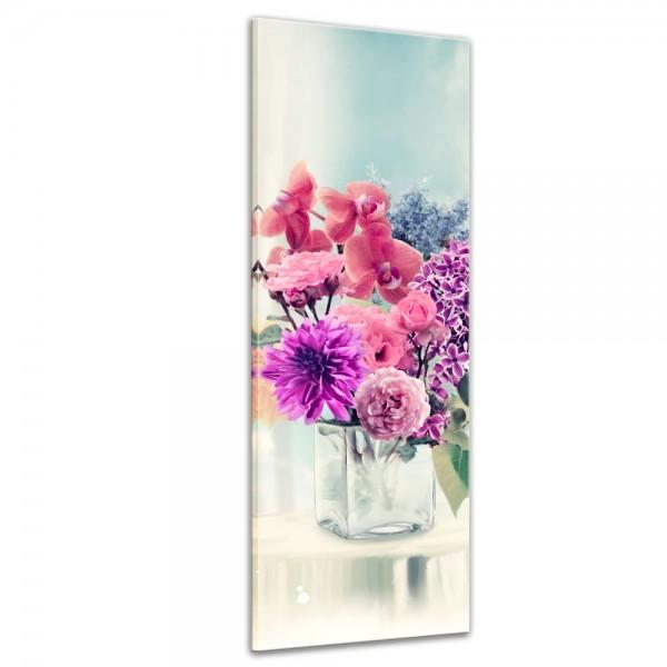 SALE Leinwandbild - Blumen in einer Vase 30x90 cm
