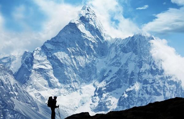 Fototapete - Klettern im Himalaya