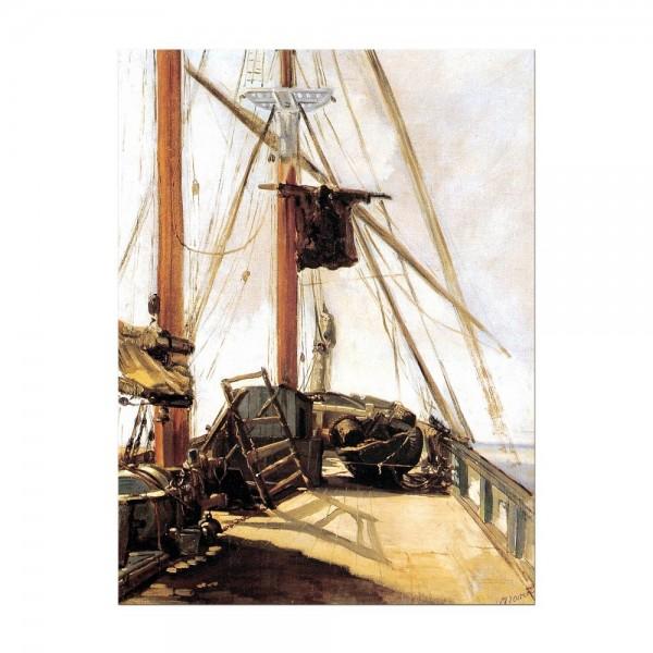 Leinwandbild - Édouard Manet - Schiffsdeck