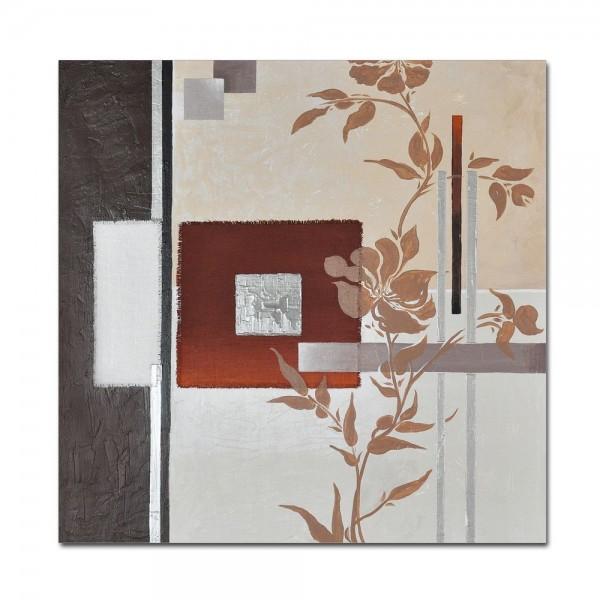 Abstrakte Kunst M6 handgemaltes Leinwandbild 80x80cm - 4cm Galerierahmen! - 806