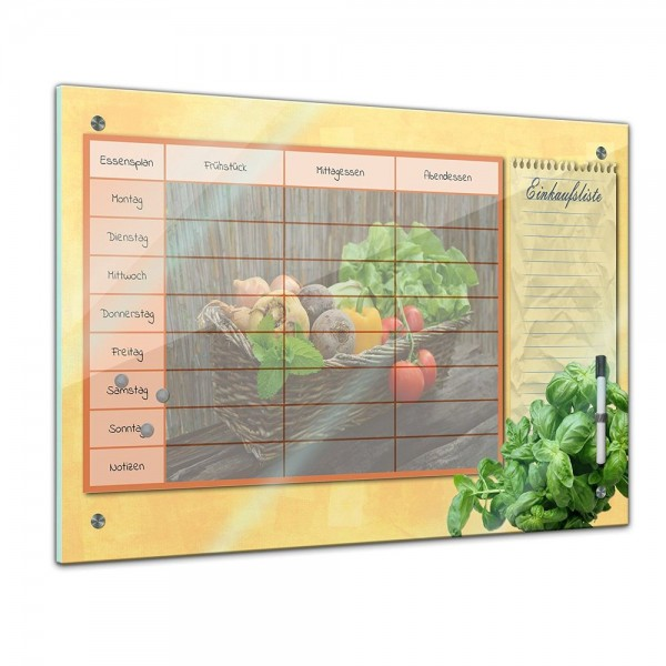 Memoboard - Familien Essensplaner - Salat-Bio - quer