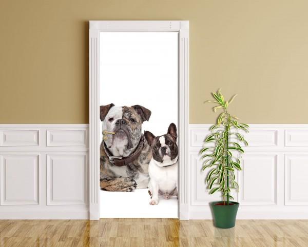 Türaufkleber - Bulldoggenfamilie
