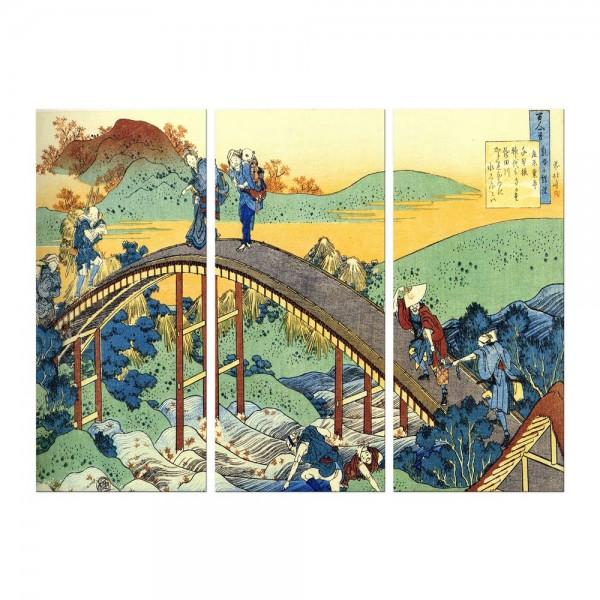 Leinwandbild - Katsushika Hokusai - Ariwara no Narihira Ason