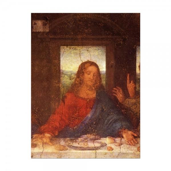 Leinwandbild - Leonardo da Vinci - Das Abendmahl - Jesus Detail
