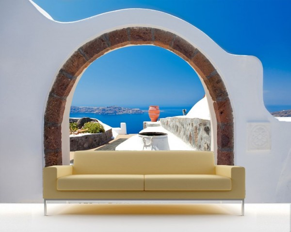 Fototapete Window to Paradise - Santorini Griechenland