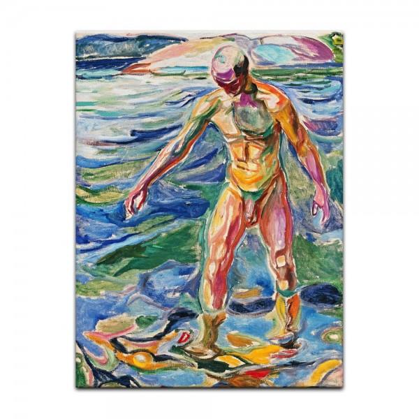 Leinwandbild - Edvard Munch - Bathing Man - Badender