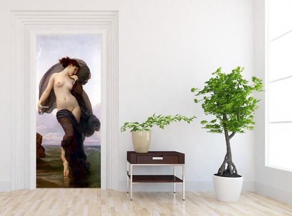 Türtapete - William-Adolphe Bouguereau - Abendstimmung 90 x 200 cm