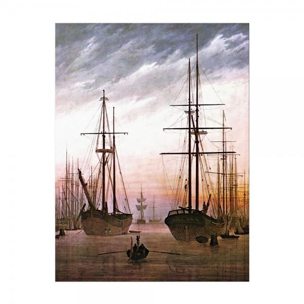 Leinwandbild - Caspar David Friedrich - Ansicht eines Hafens