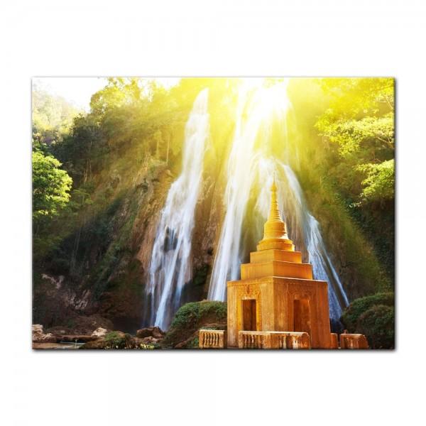 Leinwandbild - Wasserfall in Myanmar