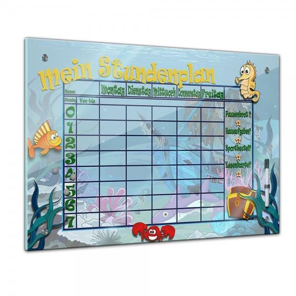 Memoboard - Stundenplan - Unterwasserwelt