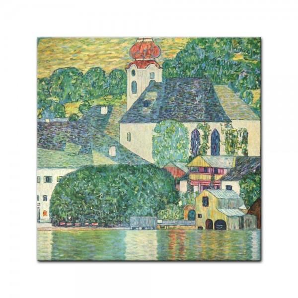 Glasbild Gustav Klimt - Alte Meister - Die St. Wolfgang-Kirche