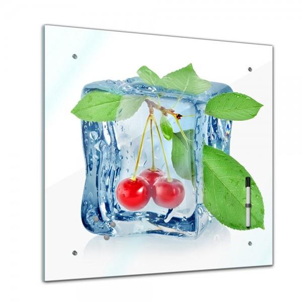 Memoboard - Essen & Trinken - Eiswürfel Kirschen - 40x40 cm