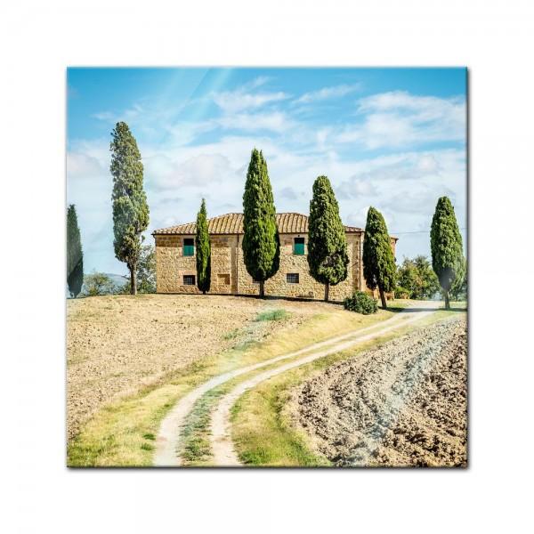 Glasbild - Toskana - Italien