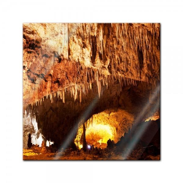 Glasbild - Carlsbad Caverns - National Park in den USA