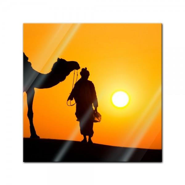Glasbild - Thar Wüste - Indien