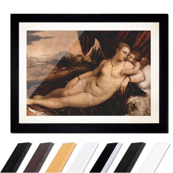 Tizian - Venus mit Orgelspieler, Amor und Hund