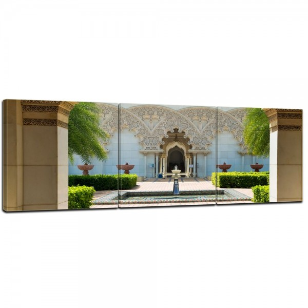 SALE Leinwandbild - marokkanische Architektur - Putrajaya Malaysia - 120x40 cm 3tlg