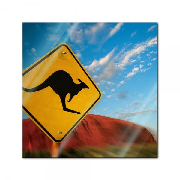 Glasbild - Ayers Rock - Australien