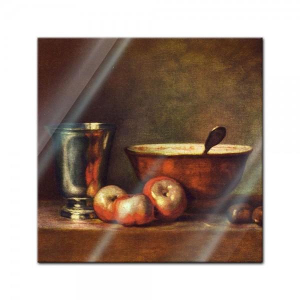 Glasbild Jean Siméon Chardin - Alte Meister - Der Silberbecher