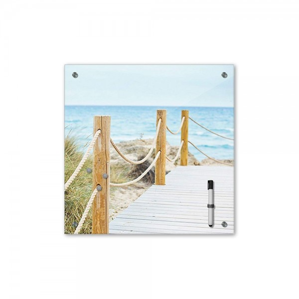 Memoboard - Landschaft - Schöner Weg zum Strand - 40x40 cm