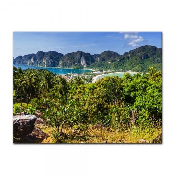 Leinwandbild - Blick auf Phi Phi Island - Thailand