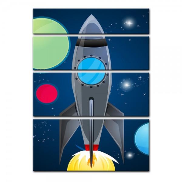 Leinwandbild - Kinderbild - Rakete