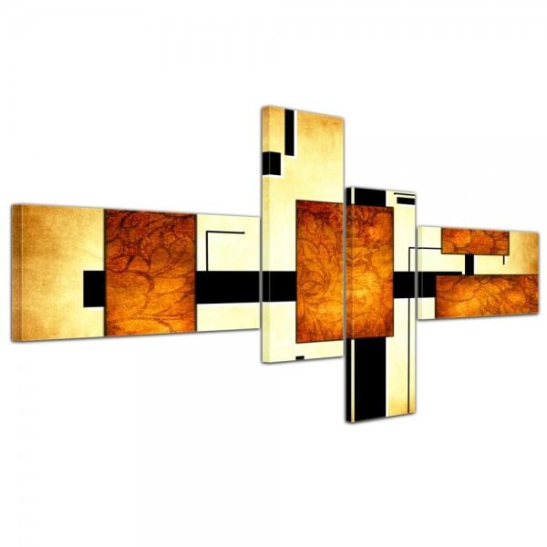 Abstrakte Kunst Abstrakt IV - 200x90cm 4 teilig