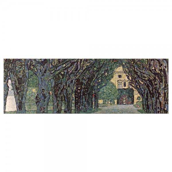 Leinwandbild - Gustav Klimt - Weg im Park von Schloss Kammer