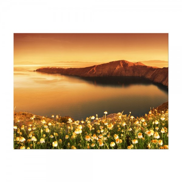 Leinwandbild - Sonnenaufgang über Santorini - Griechenland