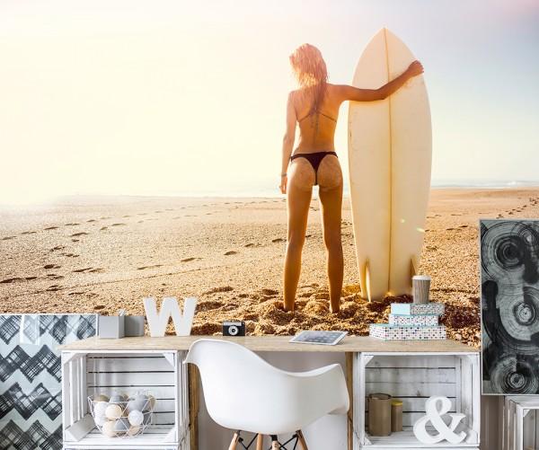 Fototapete - Surfer Girl