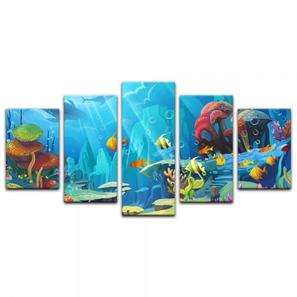 Leinwandbild - Kinderbild - Bunte Korallenwelt