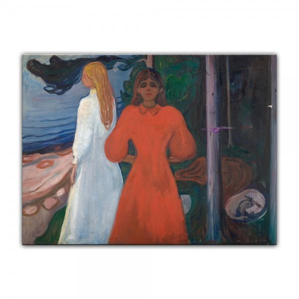Leinwandbild - Edvard Munch - Red and White