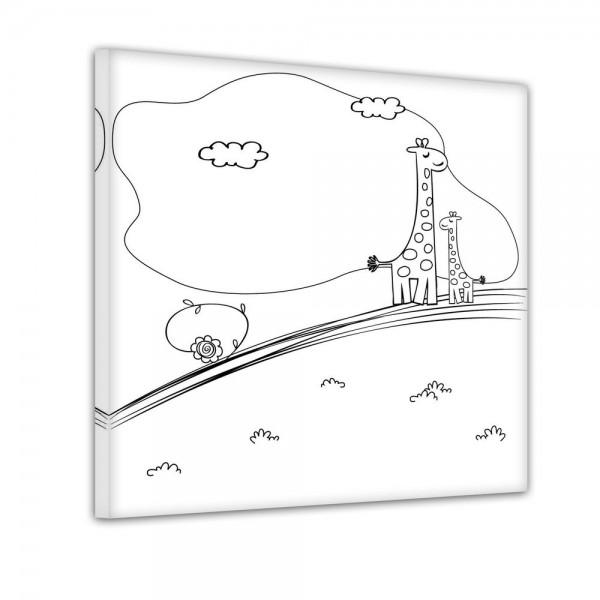 giraffe auf der wiese  ausmalbild  bilderdepot24de