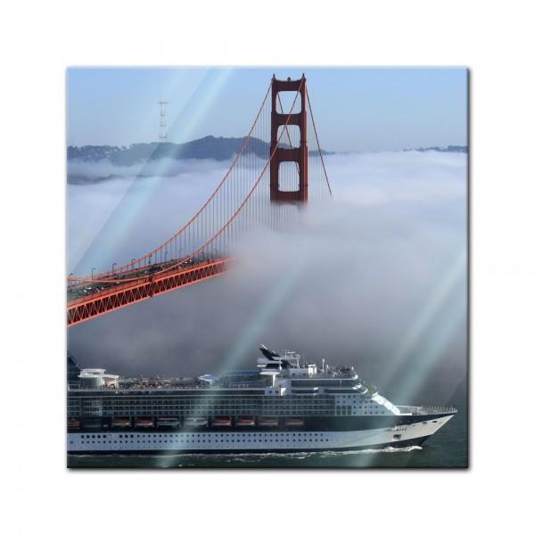 Glasbild - Golden Gate Bridge in San Francisco, Kalifornien - USA