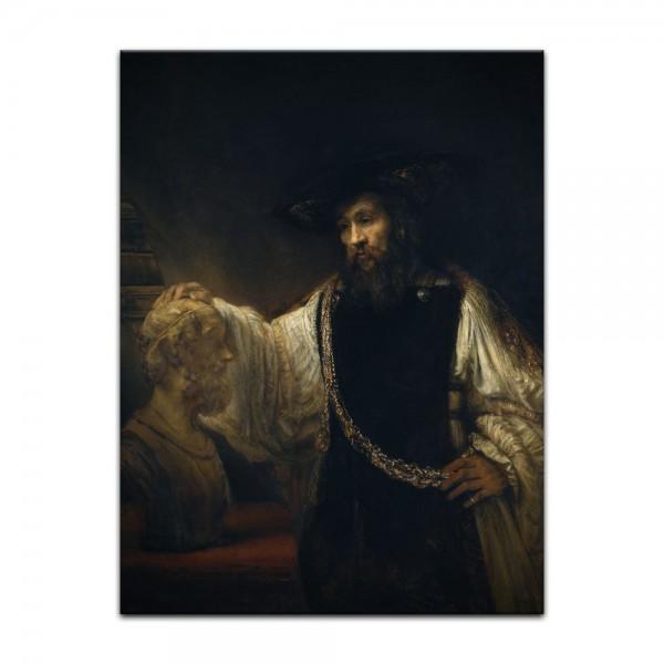 Leinwandbild - Rembrandt - Aristoteles mit einer Büste von Homer