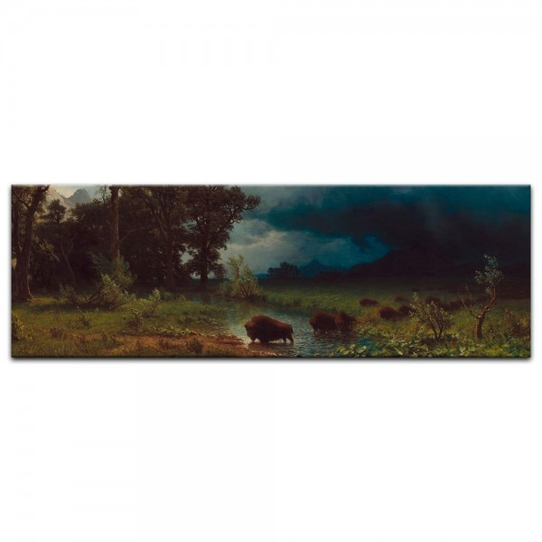 Leinwandbild - Albert Bierstadt - Buffalo Trail, The Impending Storm