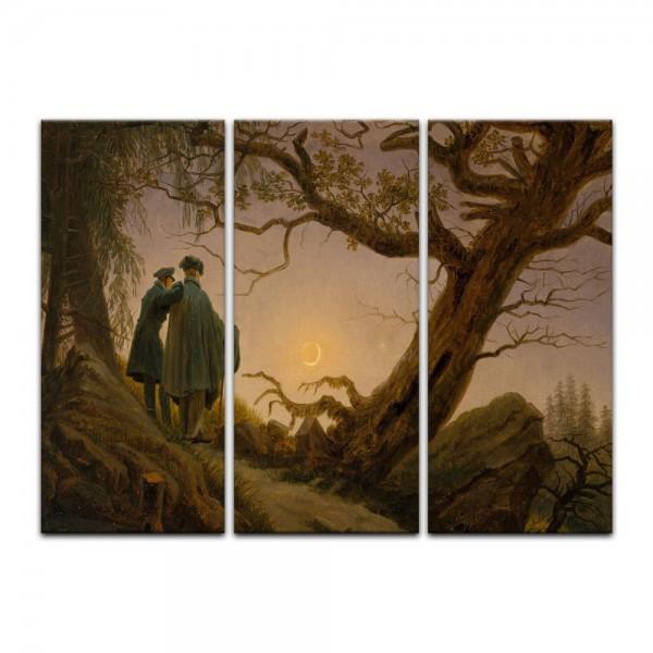 Leinwandbild - Caspar David Friedrich - Zwei Männer in Betrachtung des Mondes